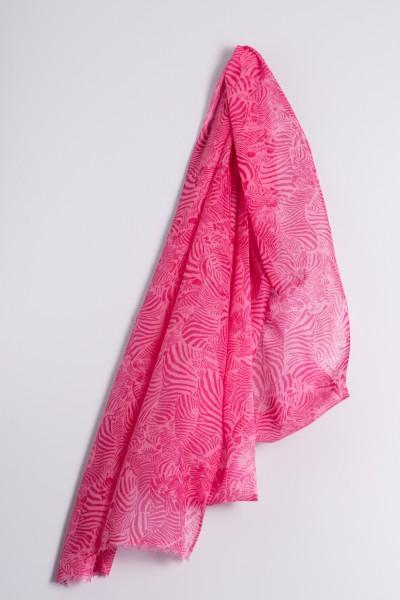 Hot Pashmina Print Zebra sachet pink