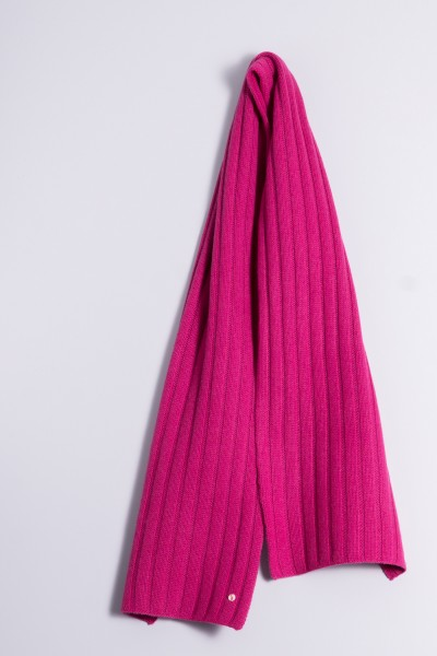 Cable Stitch Shawl 100% Cashmere raspberry