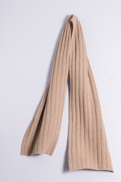 Cable Stitch Shawl 100% Cashmere natural grey
