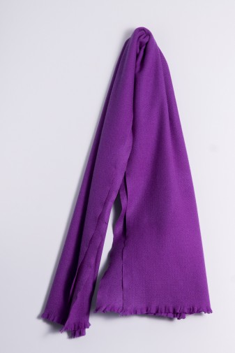 Winter Stole 100% Cashmere purple