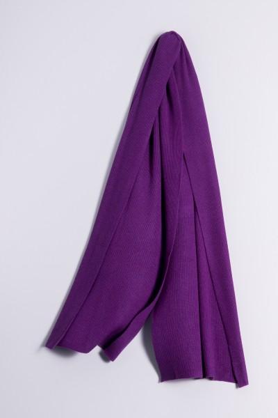 Kaschmirschal Rippstrick lila