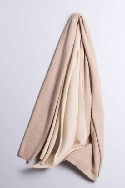 Strickschal double natural brown/natural grey