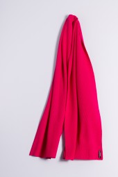 Cashmere ribbed scarf raspberry