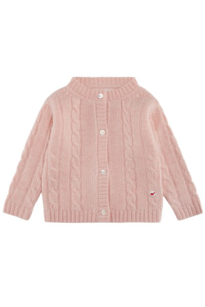 Baby Strickjacke Zopfmuster baby pink