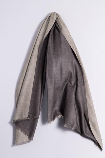 Pashmina Double charcoal/light grey