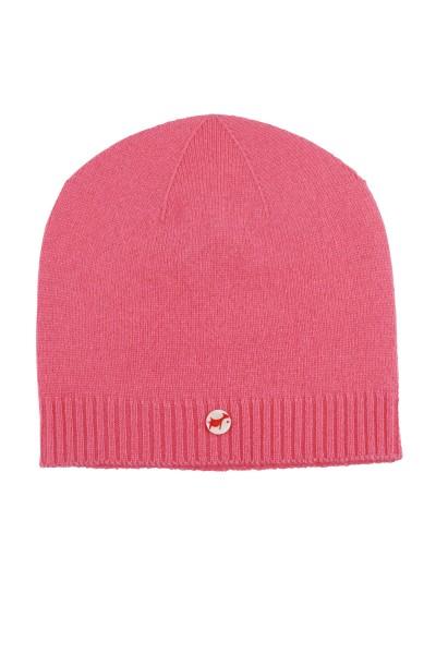 Kaschmirmütze Feinstrick pink