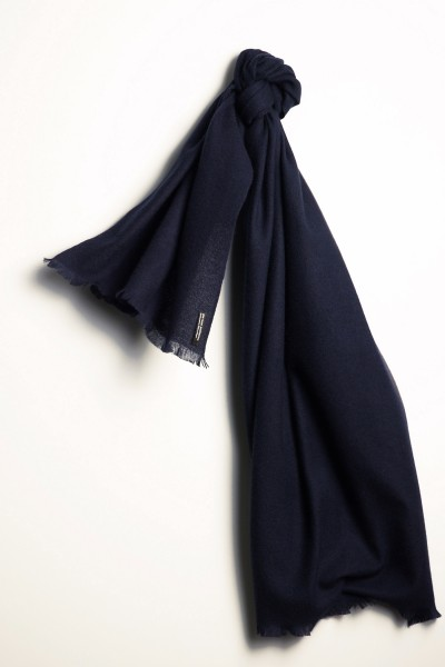 Pashmina Schal 100% Kaschmir blue nights