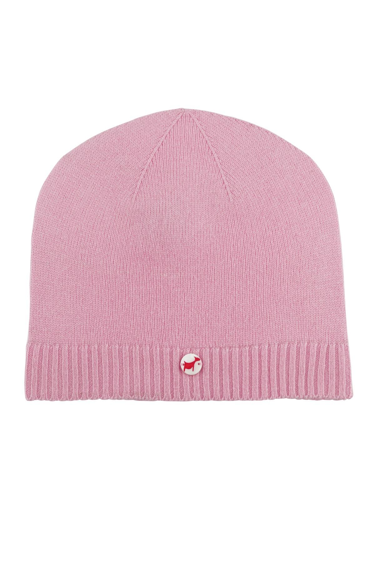 Kaschmirmütze Feinstrick rosy pink
