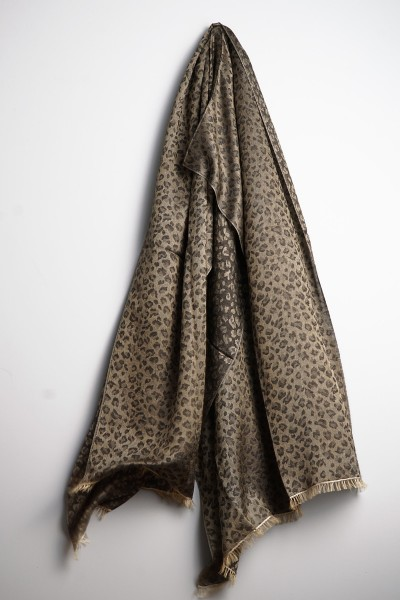 Water-Pashmina Leopard gold