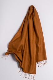 Pashmina 90x200cm bronze brown