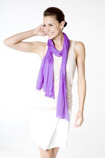 Jersey Seidenschal violett