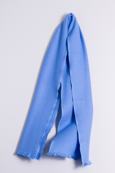 Winter Scarf 100% Cashmere sky blue