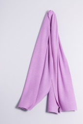 Cashmere ribbed scarf lilac