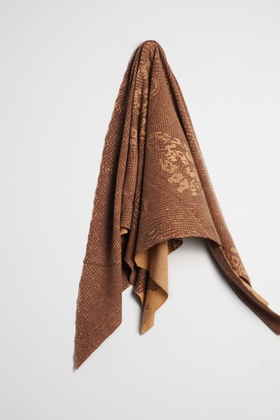 Triangle Snake camel melange / chocolate