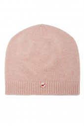 Fine knit cashmere baby cap baby pink