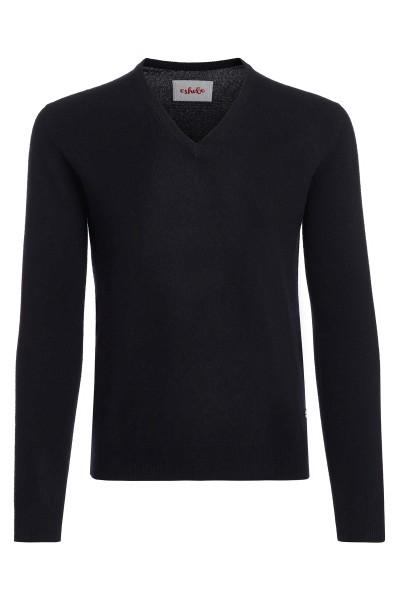Men's V-neck cashmere sweater black