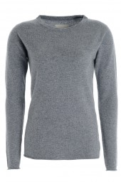Women's long sleeve cashmere top uniform grey