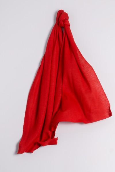 Kaschmirschal Feinstrick rot