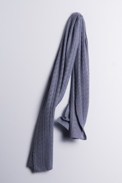 Cable knit scarf antracite
