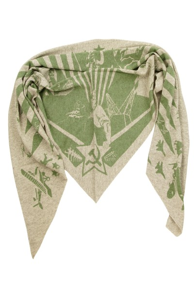 Triangle Strick Sowjet grey melange / juniper green