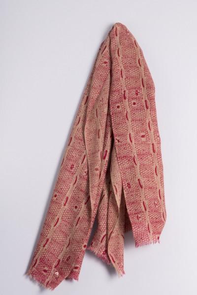 Schal Natur Ripp-Print beetroot pink