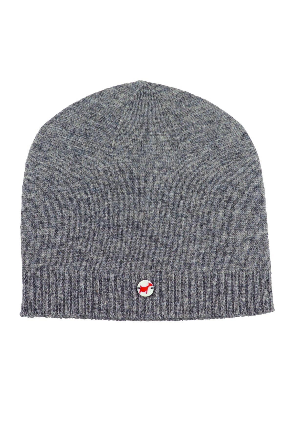 Kaschmirmütze Feinstrick uniform grey