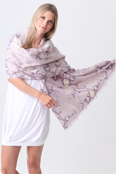 Pashmina Couture Print Python thistle grape