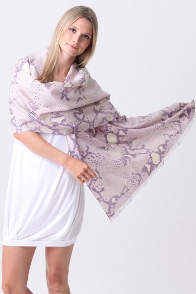Pashmina Couture Print Python thistle grape