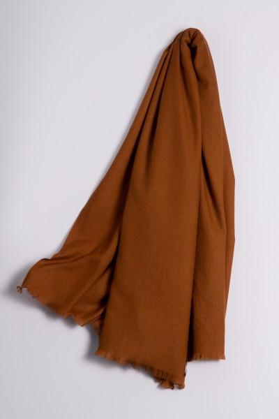 Pashmina 100% Cashmere bronze brown
