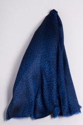 Water-Pashmina Leopard strong blue
