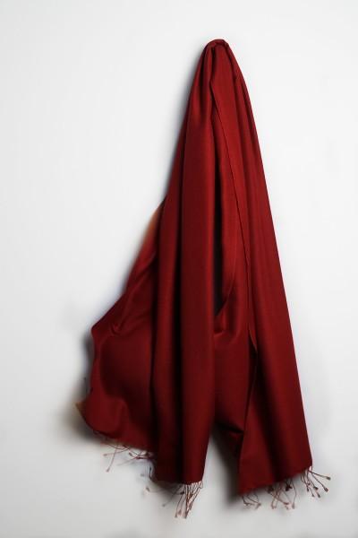 Pashmina 90x200cm tibetian red