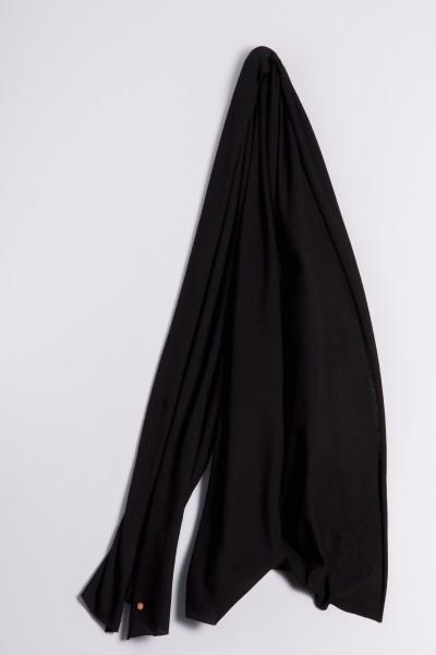 Kaschmirstola Feinstrick schwarz