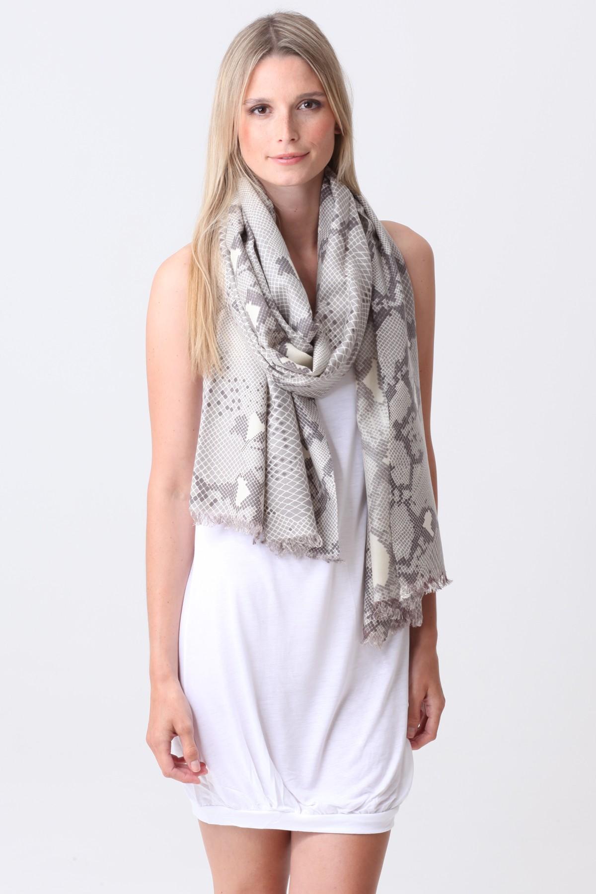 Pashmina Couture Print Python ash