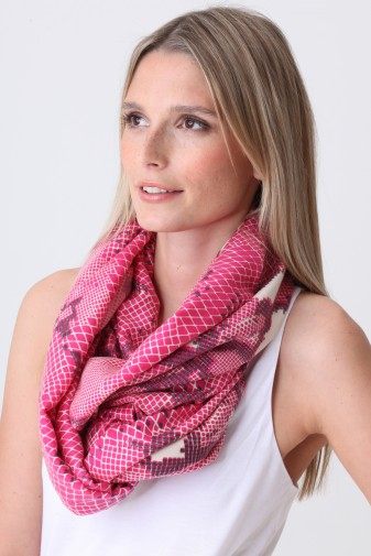 Pashmina Couture Print Python beetroot purple