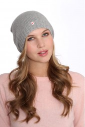 Fine Knit Cashmere Cap silver grey