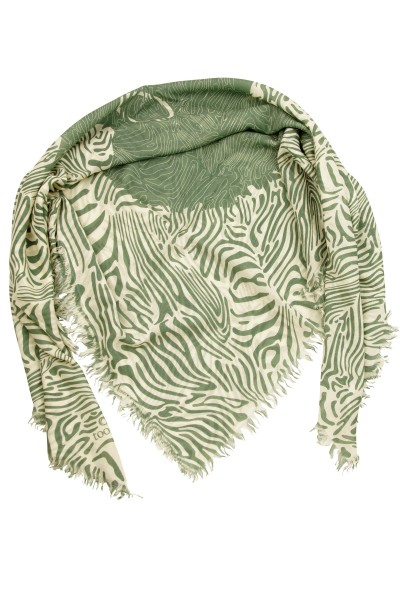 Carré Zebra laurel wreath green