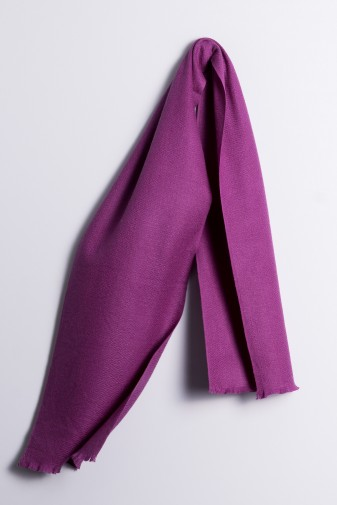 Winter Scarf 100% Cashmere purple