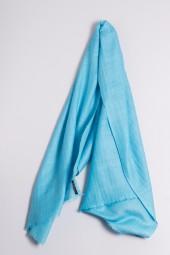 Hand spun Shawl turquoise