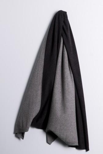 Strickschal double derby grey/charcoal