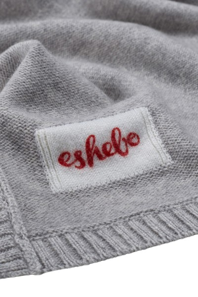 Cashmere baby blanket 80 × 80 cm oyster gray