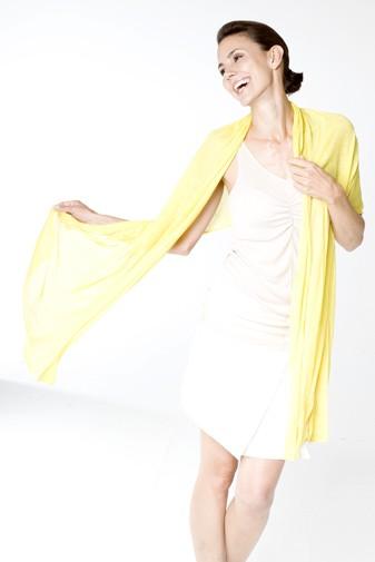 Jersey Seidenschal lemon