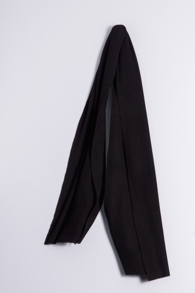 Cashmere ribbed scarf black