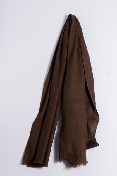 Natural yak wool shawl