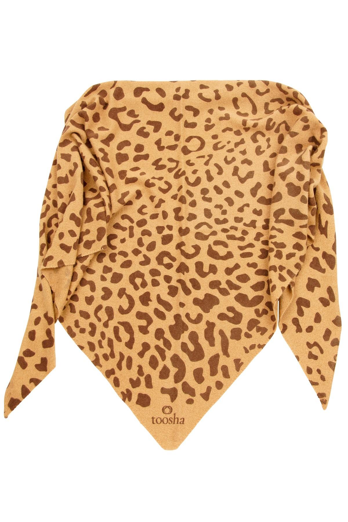 Triangle Leopard camel melange / chocolate
