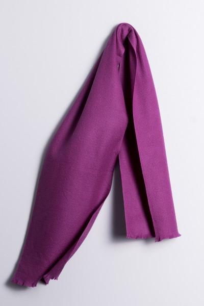 Winterschal 100% Kaschmir lila