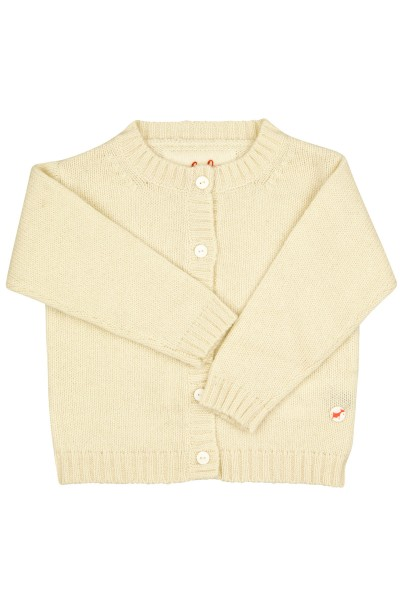 Baby Jersey knit jacket offwhite