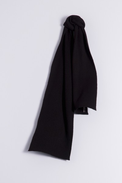 Child's cashmere scarf black