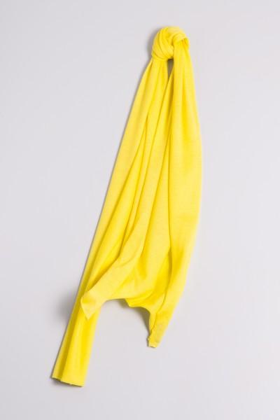 Kaschmirschal Feinstrick gelb