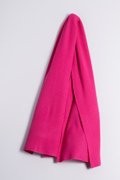 Cashmere ribbed scarf pink