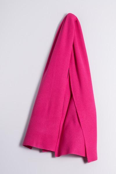 Kaschmirschal Rippstrick pink